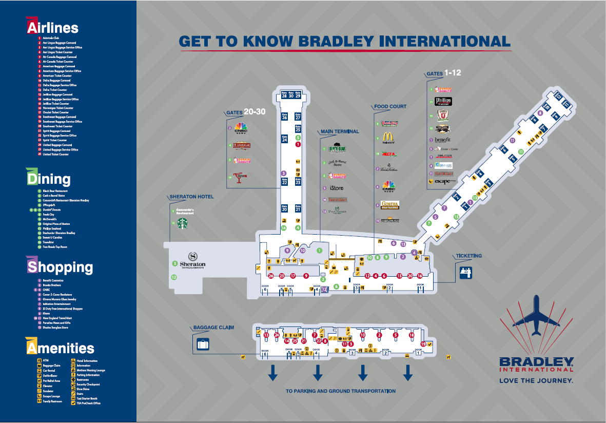 Maps | dley International Airport Detroit Airport Terminal Map on