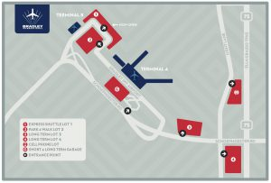 BDL Parking Lot Map
